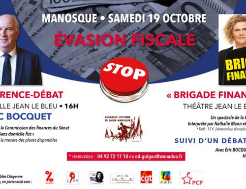Manosque: conférence-débat : Évasion fiscale STOP!