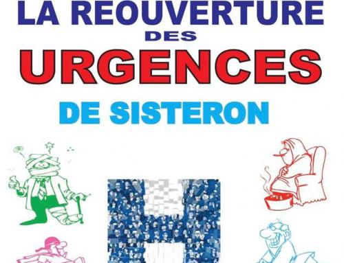 SISTERON : Mobilisation pour la réouvertures des urgences de nuit.
