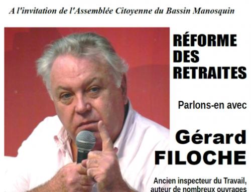 RETRAITES : Gérard Filoche à Manoque 28 janvier 18h00