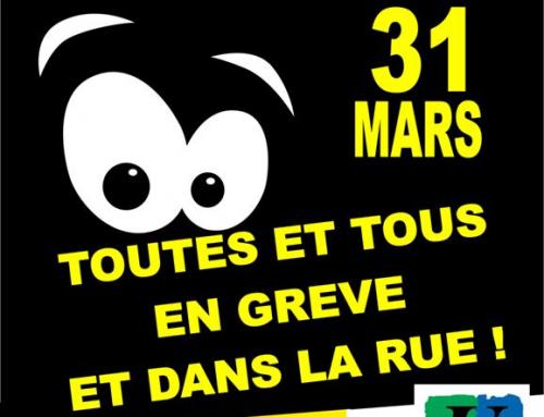 31 MARS / Journée de mobilisation générale