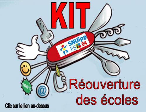 KIT pour la réouverture des écoles : toutes les infos / tous les documents utiles