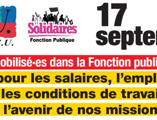 Mobilisé·es dans la Fonction publique pour les salaires, l'emploi, les conditions de travail, l'avenir de nos missions