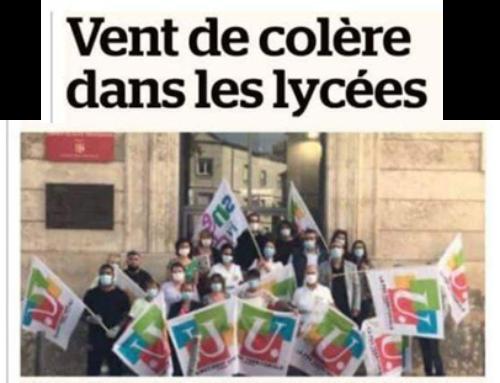 Alpes de Haute Provence: Vent de colère dans les Lycées !
