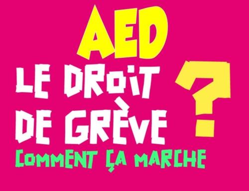 AED droit de grève